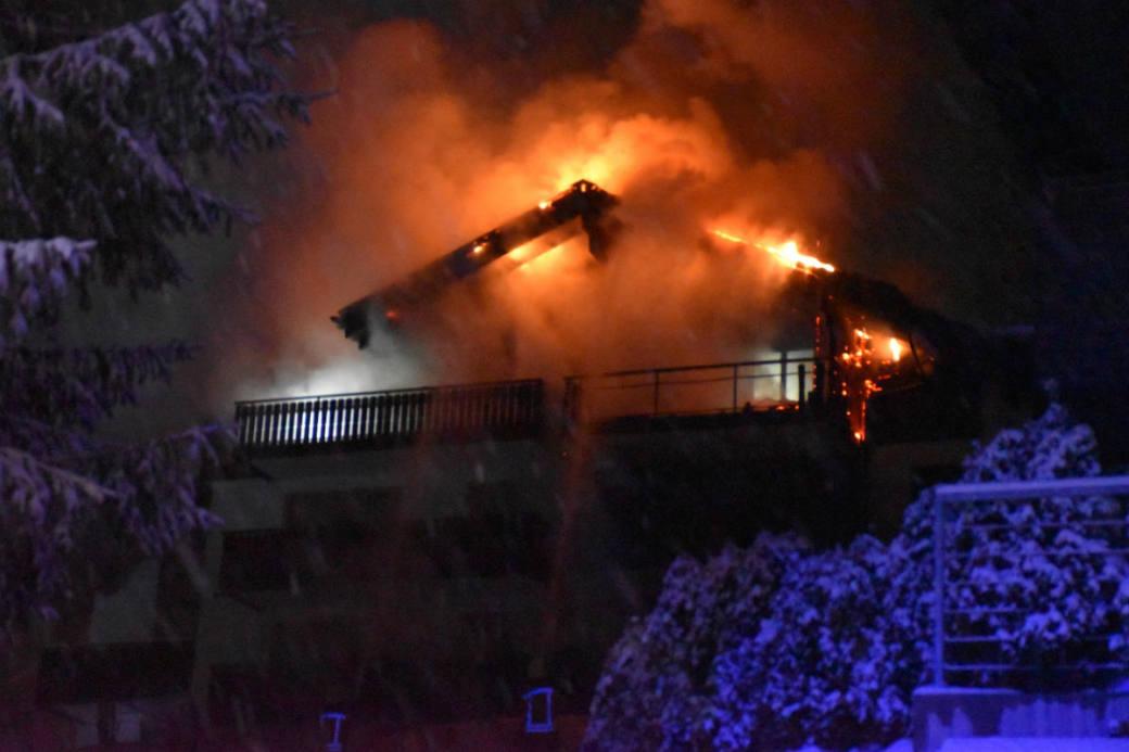 Grossbrand in Sedrun.