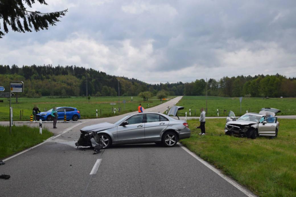 Heftiger Crash.