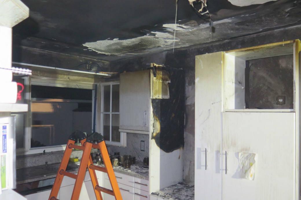 Küchenbrand in Oberwil