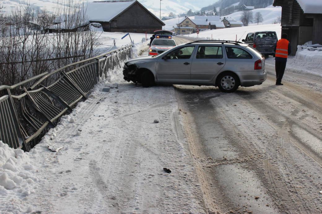 Unfallstelle Kaubachbrücke
