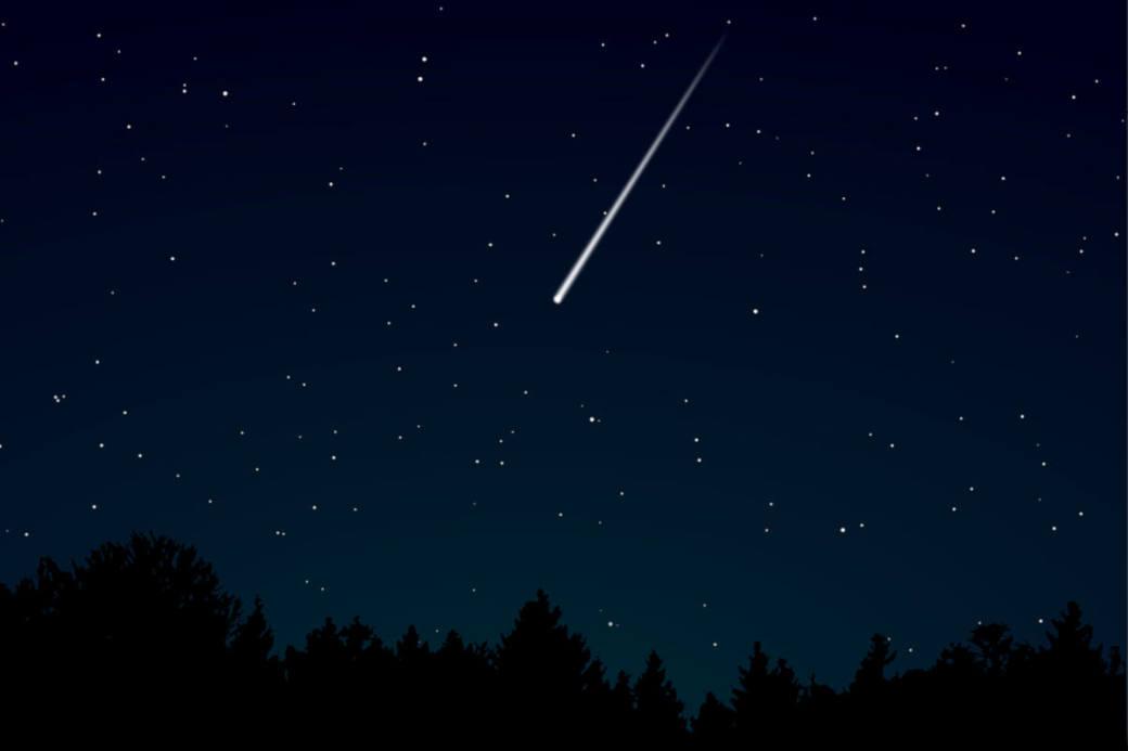 Symbolbild Sternschnuppe am Nachthimmel