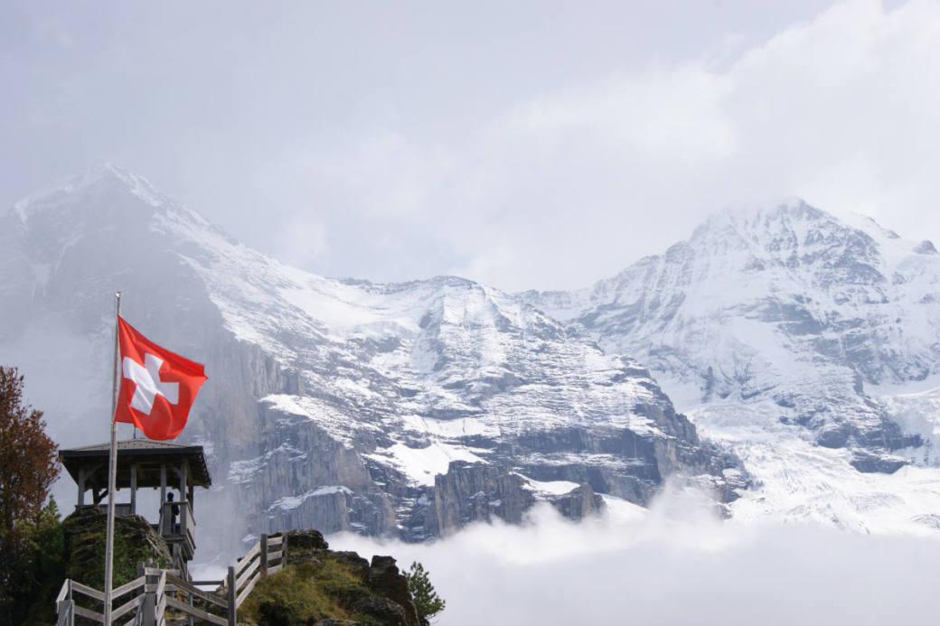 Jungfraujoch in den Berner Alpen