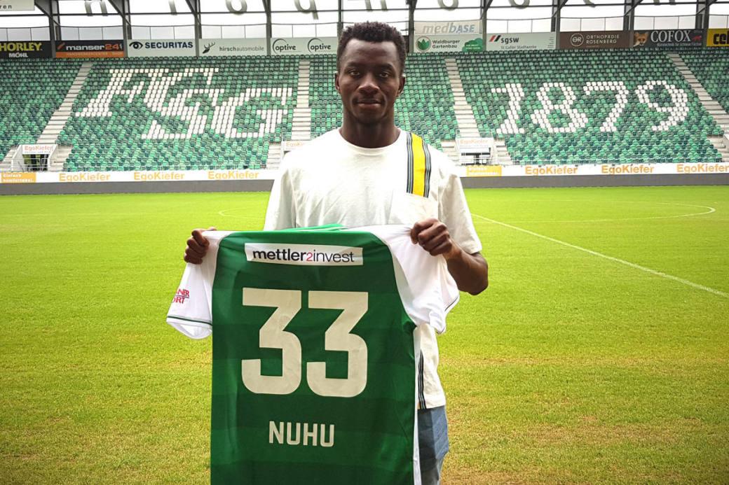 Nuhu wird mit der Nummer 33 bei St.Gallen spielen
