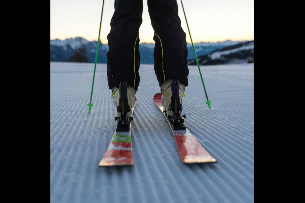 Auf die Ski, fertig, los.