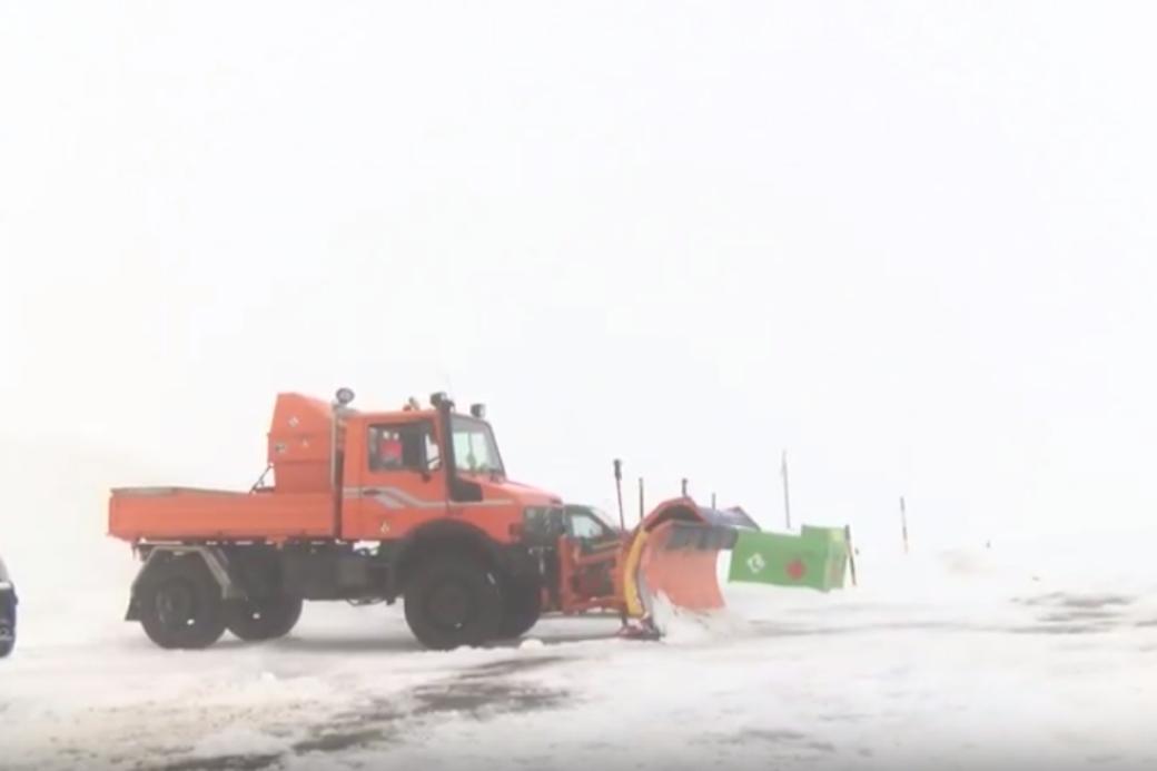 Schneeräumung auf dem Albulapass