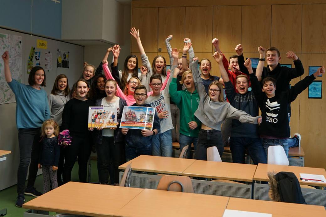 Schülerinnen und Schüler der Sieger-Klasse 2d aus Bubikon.