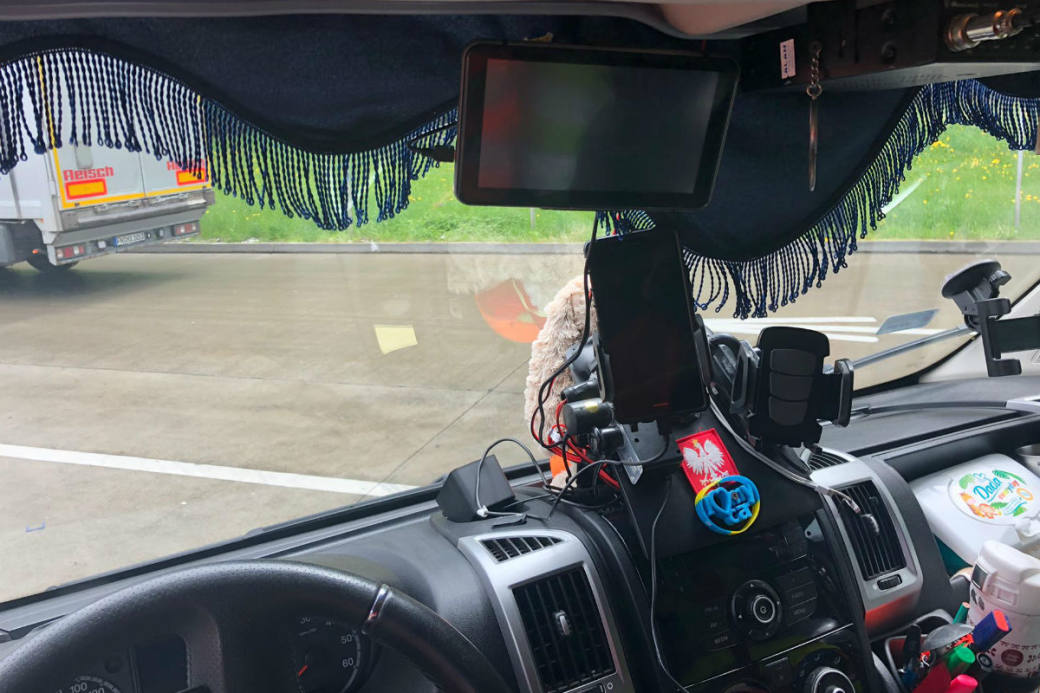 Sichtbehinderung im Fahrzeug.