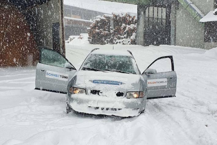 Am Sonntag wird in den Bergen auf der Alpennordseite der Schnee auf den Strassen wieder zum Thema.