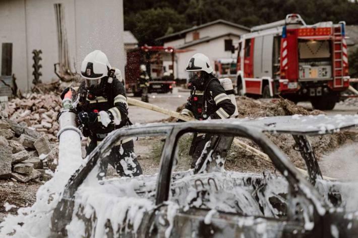 Fahrzeugbrand in St. Stefan/Gail (Symbolbild)