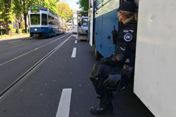 In der Stadt Zürich haben heute erneut Strassenblockaden stattgefunden. (Symbolbild)
