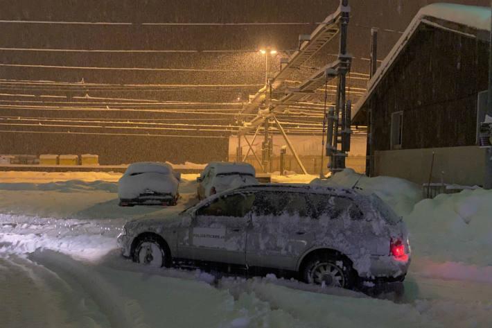 Airolo versinkt am 15.11.2019 im Schnee.