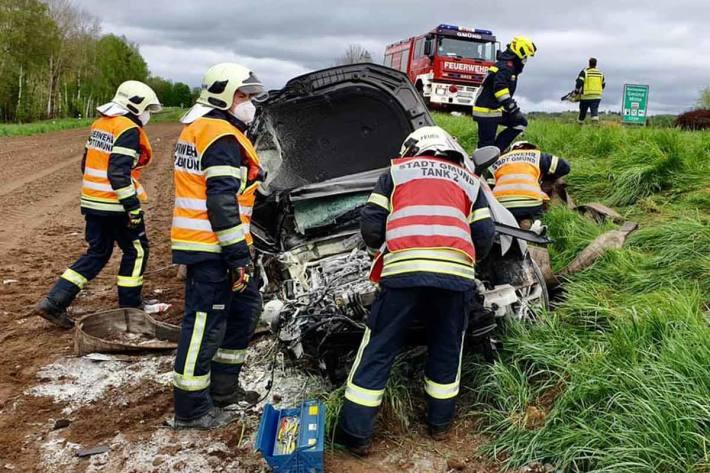Verkehrsunfall auf der LB 41 bei Ehrendorf