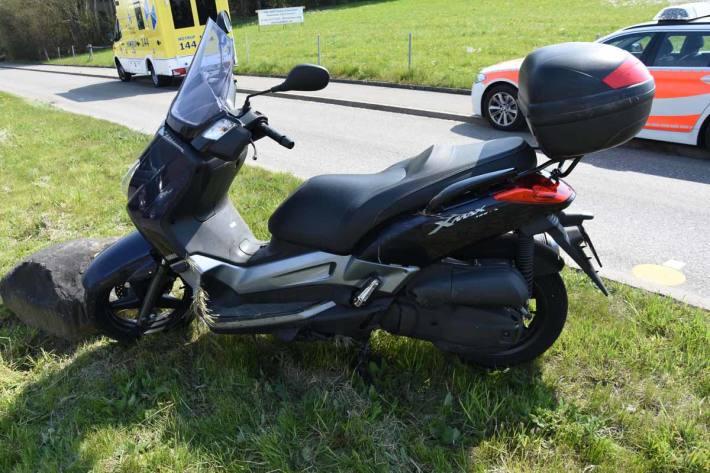 Selbstunfall mit Motorrad in Tübach