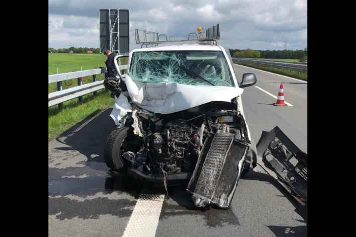 Verkehrsunfall auf der Autobahn 31  bei Bunde