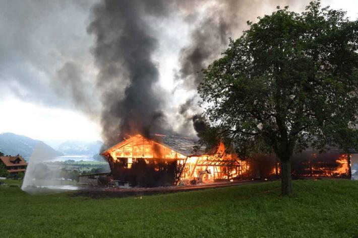 Scheunenbrand in Alpnach Dorf