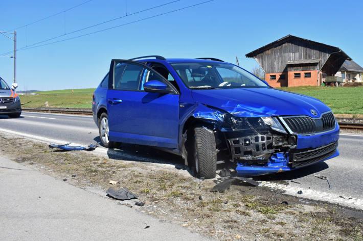 Beim Unfall entstand in Eschenbach ein Sachschaden von ca. 25'000 Franken