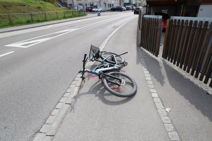 Selbstunfall mit E-Bike in St.Gallen