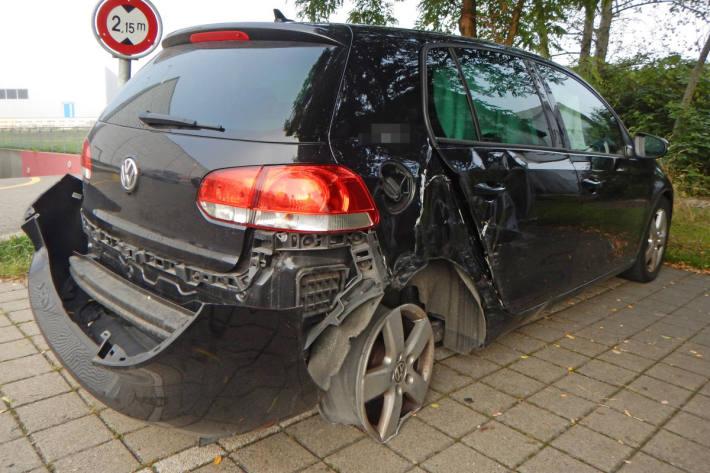 Unfallfahrzeug von der A7 bei Kreuzlingen