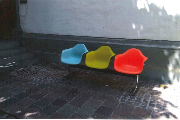 Diese Sitzbank wurde gestohlen.