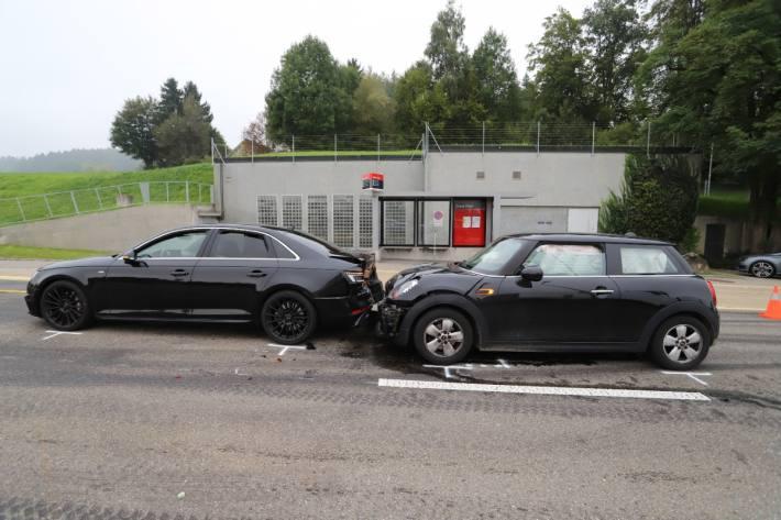Gestern kam es in St. Gallen zu einer Auffahrkollision.