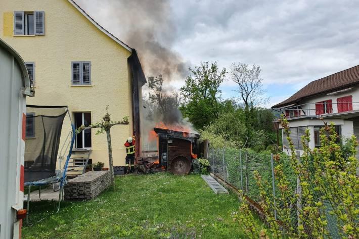 In Aarau AG brannte es gestern.