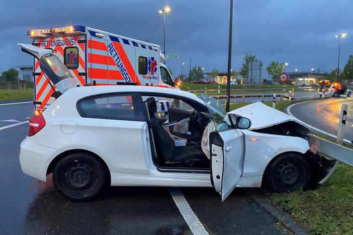 Unfallfahrzeug in Kreuzlingen