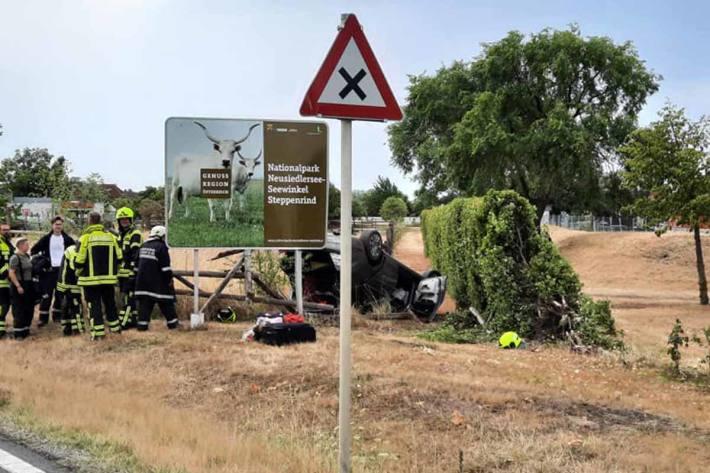 Schwerer Unfall in Podersdorf