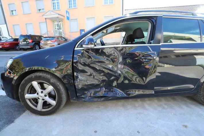 Der Sachschaden am Auto ist gross.