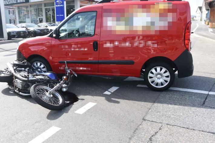 Motorradfahrer auf Hauptstrasse in St. Margrethen verunfallt