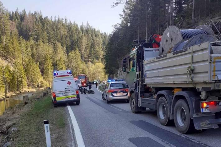 Verkehrsunfall im Gemeindegebiet von St. Aegyd am Neuwalde