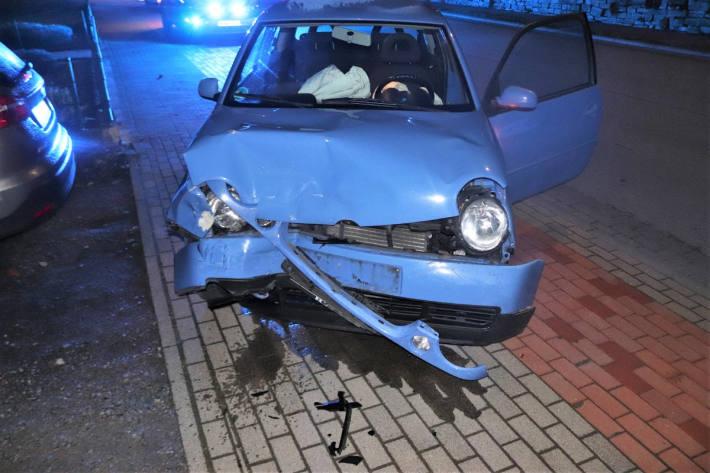 Unfallfahrzeug in Bad Driburg