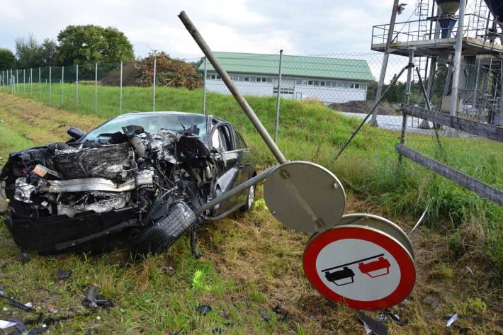 Heftiger Crash in Schärding