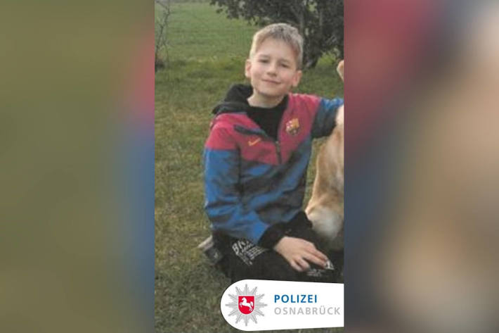 Bild des vermissten 11-Jährigen aus Bad Essen
