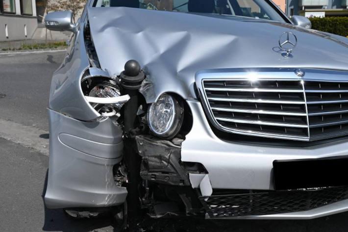 Unfallfahrzeug in Triesen