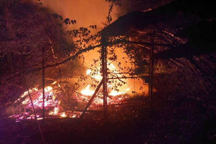 Gestern ist es in St. Margrethen zum Brand einer Holzhütte gekommen