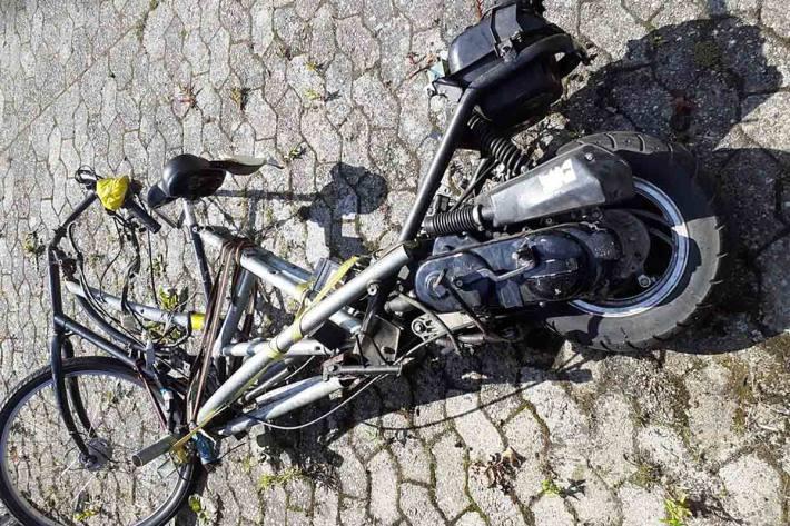 Fund eines umgebauten Motorrollers in Barßel