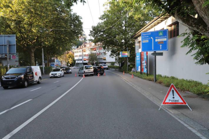 Verkehrsunfall mit Sachschaden in St.Gallen