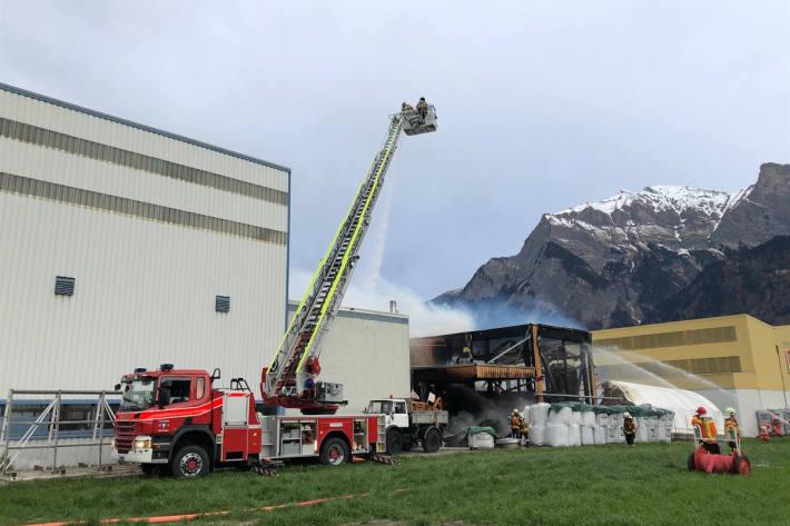 Grosser Sachschaden bei Brand in Industriequartier in Maienfeld