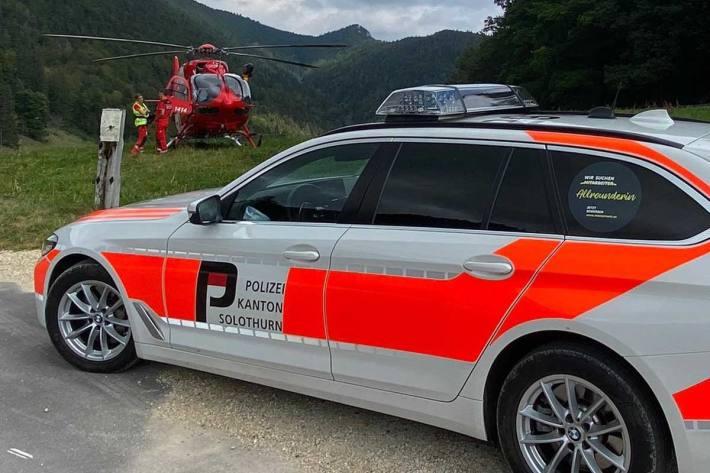 Bei Oberdorf stand ein Helikopter im Einsatz, um einen abgestürzten Gleitschirmpiloten zu bergen