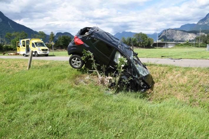 Die Autolenkerin hatte Glück im Unglück.