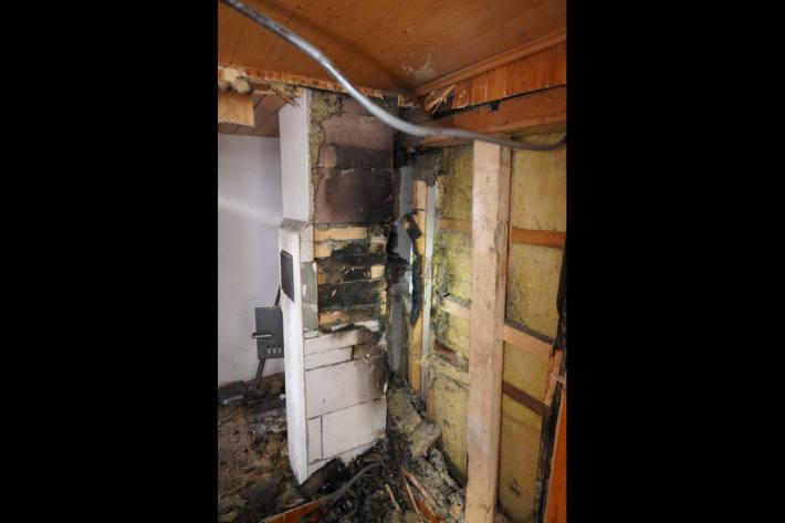 Brandschaden im Ferienhaus in Wassen UR