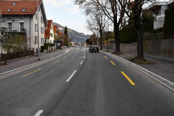 Unfallstelle auf der Masanerstrasse in Chur