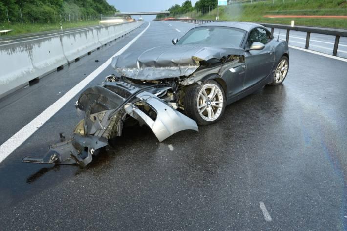 Bei Knutwil LU Kontrolle über Auto verloren.