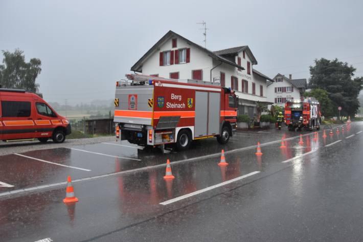 In Steinach brannte gestern eine Fassade.