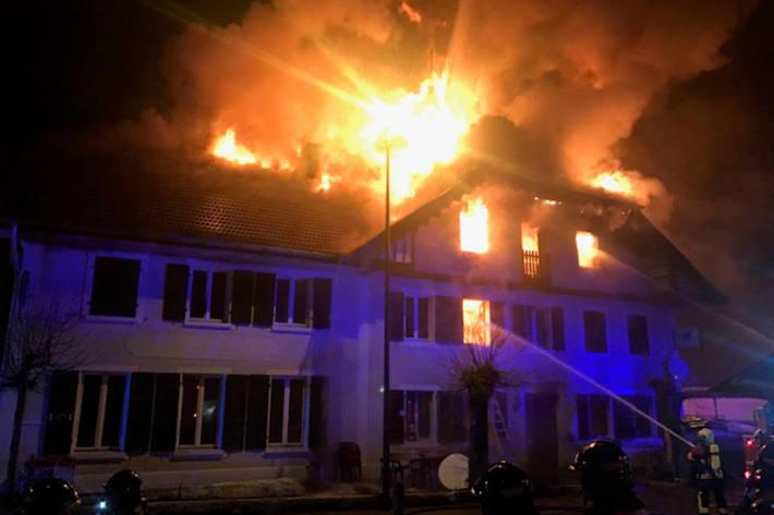 Beim Brand verletzte sich zum Glück niemand.