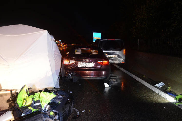 Unfallörtlichkeit auf der A2 bei Pratteln