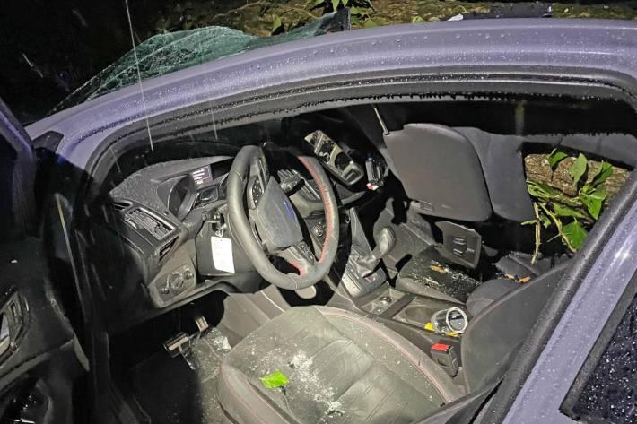 Die Autolenkerin wurde ins Spital gebracht.