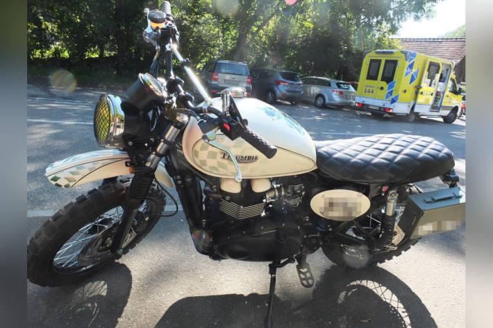Unfall zwischen Motorrädern in Oberriet
