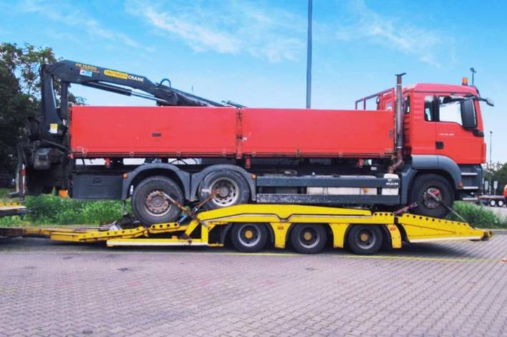 Gestoppter LKW-Transport in Pohlheim
