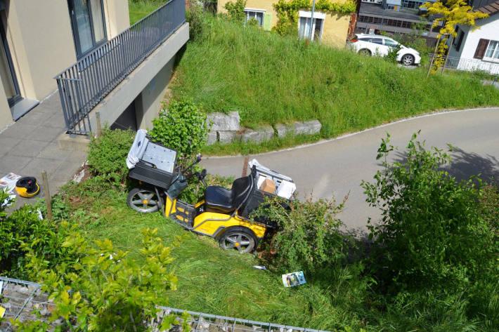 Endlage Unfallfahrzeug in Herisau